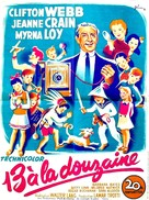 Cheaper by the Dozen - French Movie Poster (xs thumbnail)