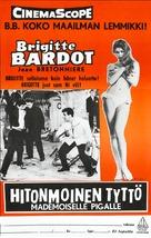 Et Dieu... créa la femme - Finnish Movie Poster (xs thumbnail)