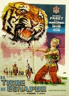 Der Tiger von Eschnapur - Spanish Movie Poster (xs thumbnail)