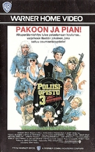 Police Academy 3: Back in Training - Finnish VHS movie cover (xs thumbnail)
