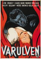 The Wolf Man - Swedish Movie Poster (xs thumbnail)
