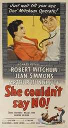 She Couldn't Say No - Movie Poster (xs thumbnail)