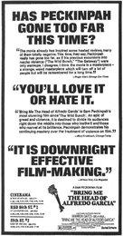 Bring Me the Head of Alfredo Garcia - poster (xs thumbnail)