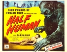 Half Human: The Story of the Abominable Snowman - Theatrical movie poster (xs thumbnail)