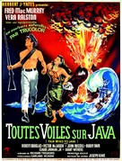 Fair Wind to Java - French Movie Poster (xs thumbnail)