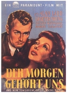 And Now Tomorrow - German Movie Poster (xs thumbnail)