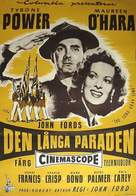 The Long Gray Line - Swedish Movie Poster (xs thumbnail)