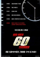 Gone In 60 Seconds - German Movie Poster (xs thumbnail)