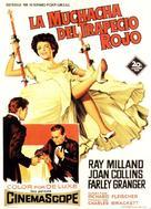 The Girl in the Red Velvet Swing - Spanish Movie Poster (xs thumbnail)