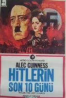Hitler: The Last Ten Days - Turkish Movie Poster (xs thumbnail)