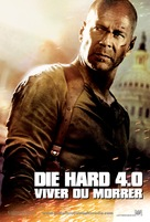 Live Free or Die Hard - Portuguese Movie Poster (xs thumbnail)