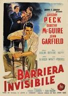 Gentleman's Agreement - Italian Movie Poster (xs thumbnail)