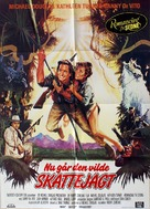 Romancing the Stone - Danish Movie Poster (xs thumbnail)