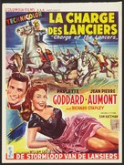 Charge of the Lancers - Belgian Movie Poster (xs thumbnail)
