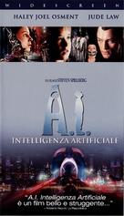 Artificial Intelligence: AI - Italian VHS movie cover (xs thumbnail)