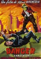 Saboteur - Italian Movie Poster (xs thumbnail)