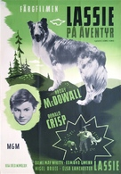 Lassie Come Home - Swedish Movie Poster (xs thumbnail)