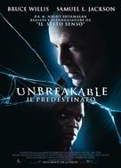 Unbreakable - Italian Movie Poster (xs thumbnail)