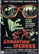The Ipcress File - Danish Movie Poster (xs thumbnail)