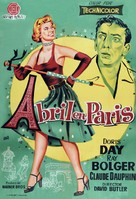 April in Paris - Spanish Movie Poster (xs thumbnail)