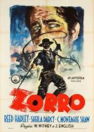 Zorro's Fighting Legion - Italian Movie Poster (xs thumbnail)