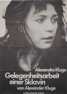 Gelegenheitsarbeit einer Sklavin - German Movie Poster (xs thumbnail)
