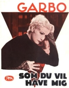 As You Desire Me - Danish Movie Poster (xs thumbnail)