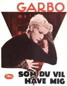 As You Desire Me - Danish Movie Poster (xs thumbnail)