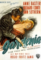 The Blue Gardenia - German Movie Poster (xs thumbnail)