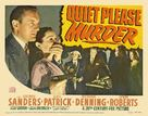 Quiet Please: Murder - Movie Poster (xs thumbnail)