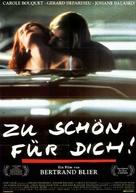 Trop belle pour toi - German Movie Poster (xs thumbnail)