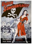 Buccaneer's Girl - Danish Movie Poster (xs thumbnail)