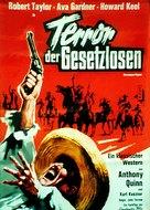 Ride, Vaquero! - German Theatrical movie poster (xs thumbnail)