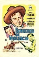 Santa Fe Passage - Spanish Movie Poster (xs thumbnail)