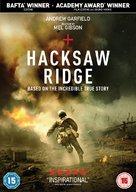 Hacksaw Ridge - British DVD movie cover (xs thumbnail)