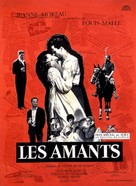 Les amants - French Movie Poster (xs thumbnail)