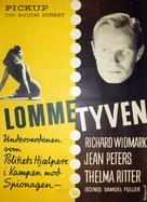 Pickup on South Street - Danish Movie Poster (xs thumbnail)