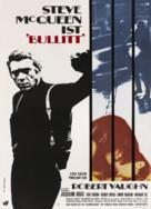 Bullitt - German Movie Poster (xs thumbnail)