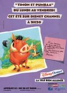 """Timon & Pumbaa"" - French poster (xs thumbnail)"