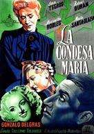 La condesa María - Spanish Movie Poster (xs thumbnail)