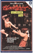 Bloodsport - Finnish VHS movie cover (xs thumbnail)