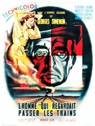 The Man Who Watched the Trains Go By - French Movie Poster (xs thumbnail)