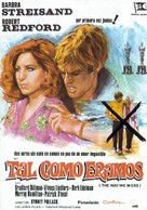 The Way We Were - Spanish Movie Poster (xs thumbnail)