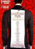 Gosford Park - Portuguese Movie Poster (xs thumbnail)