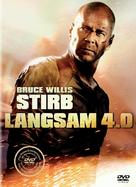 Live Free or Die Hard - German DVD movie cover (xs thumbnail)