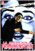 The Curse of Frankenstein - Spanish Movie Poster (xs thumbnail)