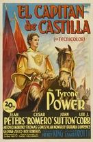 Captain from Castile - Spanish Movie Poster (xs thumbnail)