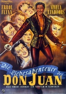 Adventures of Don Juan - German Movie Poster (xs thumbnail)