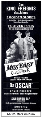 Driving Miss Daisy - German Movie Poster (xs thumbnail)