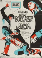 Blue - Danish Movie Poster (xs thumbnail)